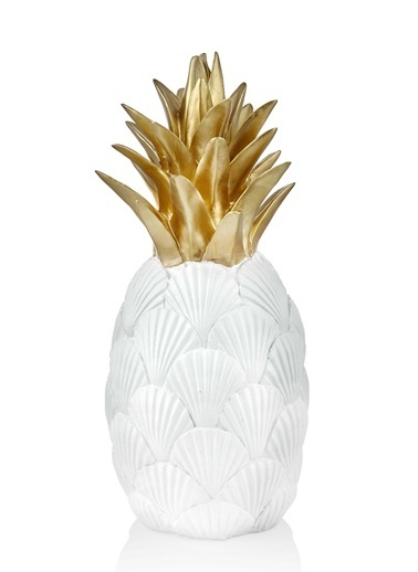 The Mia Dekoratif Ananas - 42 Cm Beyaz
